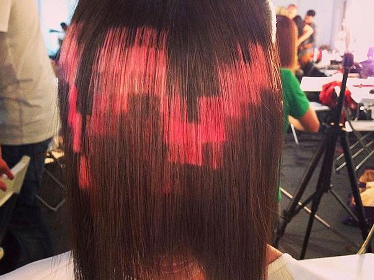 Pixel hair - une tendance capillaire un peu flou !2